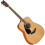 Yamaha Solid Top Acoustic Guitar Left Hand, Natural FG820LNT