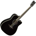 Yamaha FGX Solid Spruce Top Electric Acoustic Guitar, Black FGX820CBL