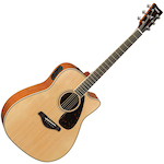 Yamaha FGX Solid Spruce Top Electric Acoustic Guitar, Natural FGX820CNT