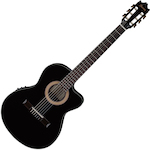 Ibanez Classical Acoustic/Electric Guitar Thin Body, Black Night GA35TCEBKN