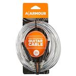 Ashton 20Ft Deluxe Woven Guitar Cable, Silver GC20S