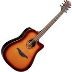 Lag Dreadnought Cutaway Electric Guitar Brown GLAT100DCEBR