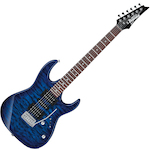 Ibanez Gio GRX70QA Transparent Blue Burst Electric Guitar GRX70QATBB
