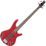 Ibanez SR Bass Guitar, Transparent Red GSR200TR
