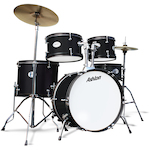 Ashton JOEYJNR  Junior Drum Kit 8, 10, 12, 16 Bass Drum, Black JOEYJNRBK