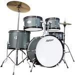 Ashton JOEYJNR Junior Drum Kit 8, 10, 12, 16 Bass Drum, Silver Green JOEYJNRSG