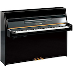 Yamaha JU109 Silent Upright Piano, Polished Ebony JU109SC2PE