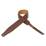 Levy's Guitar Strap, Leather 2 .5 inch Brown M26BRN