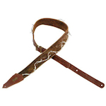 Levys Worn Torn Barbed Wire Guitar Strap, Brown M35TWBWBRN