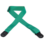 Levy's Guitar Strap, 2in Cott/Poly Green M8POLYGRN