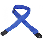 Levy's Guitar Strap, 2in Cott/Poly R/Blue M8POLYROY
