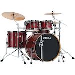 Tama Superstar Hyperdrive Custom Maple 5-piece Drum Kit, Classic Cherry Wine ML52HZBNSCCW