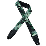 Levys 2 inch Polyester Pixel Camo Green Guitar Strap MPS2121