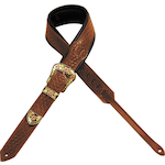 Levy's Guitar Strap, Carving Leather Weave MSS71T02WAL
