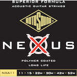 Rotosound 11-52 Nexus Coated Acoustic Guitar Strings, Phosphor Bronze NXA11