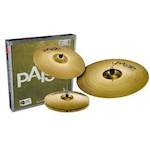 Paiste 101 Cymbal Pack 14 inch Hi Hats, 16 inch Crash and 20 inch Ride PA014USET