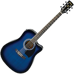 Ibanez PF15ECE Acoustic Electric, Blue Sunburst PF15ECETBS