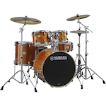 Yamaha SBP2F5 Stage Custom Birch Drum Shell Kit, Honey Amber SBP2F5HA
