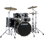 Yamaha SBP2F5 Stage Custom Birch Drum Shell Kit, Raven Black SBP2F5RB