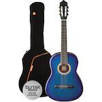 Ashton SPCG44 Classic Guitar Pack 4/4, Blue Burst SPCG44TBB