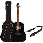 Ashton SPD25  Acoustic Guitar Pack, Black SPD25BK