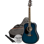 Ashton SPD25 Acoustic Guitar Pack, L/Hand, Blue SPD25LTBB