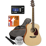 Ashton SPD25 Acoustic Pack in Natural with Tuner and Strings SPD25NT-CT170-JK11