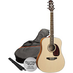 Ashton Acoustic Guitar Pack, Natural Matt SPD25NTM