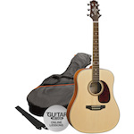 Ashton Acoustic Guitar Pack, Natural SPD25NT