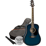 Ashton Acoustic Guitar Pack, Trans Blue SPD25TBB