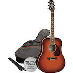 Ashton SPD25 Acoustic Guitar Pack, Tobacco Sunburst SPD25TSB