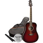 Ashton SPD25 Acoustic Guitar Pack, Wine Red SPD25WRS