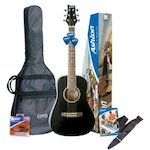 Ashton SPJOEYCOUSTIC  Acoustic Guitar Short Scale, Black SPJOEYCOUSTICBK
