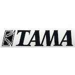 Tama Logo Sticker, Black TLS80BK