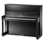 Kayserburg UH126 Upright Piano, Polished Ebony UH126A111