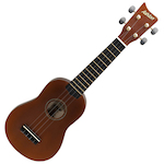 Ashton Ukulele, Mahogany Brown, w/ Matching Bag UKE100M