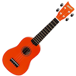 Ashton Ukulele, Orange w/ Matching Bag UKE100O
