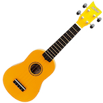 Ashton Ukulele, Yellow w/ Matching Bag UKE100Y