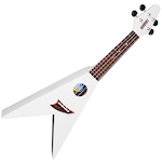 Mahalo Flying V Ukulele White UKEUFV1WH