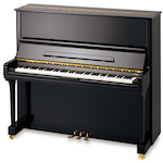 Beale UP130 Upright Piano, #11 Ebony Polish UP130TA111