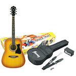 Ibanez V50NJP Acoustic Jam Pack, Light Vintage Sunburst V50NJPVS