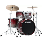 Tama WBS42SSGF Starclassic Walnut/Birch Lacquer 4-piece Shell Pack - Satin Burgundy Fade WBS42SSGF
