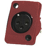 Whirlwind XLRF Connector Red WC3FQRD