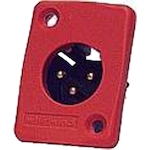 Whirlwind WC3MQ XLRM Connector Red WC3MQRD