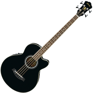 Ibanez AEB8E Acoustic Electric Bass Guitar, Black