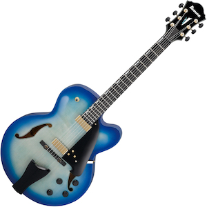 Ibanez AFC155 Contemporary Archtop Hollowbody Electric, Jet Blue Burst