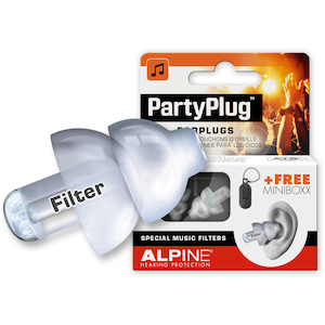 Alpine Party Plug Pro Ear Plugs, White