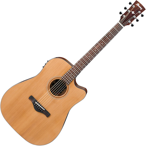 Ibanez Artwood Acoustic/Electric Guitar Solid Cedar Top, Low Gloss