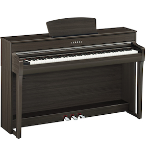 Yamaha CLP735DW Clavinova Digital Piano with Bench Dark Walnut