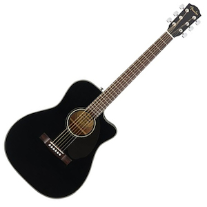 Fender CC-60SCE Concert Acoustic Electric with Cutaway Walnut Fingerboard - Black